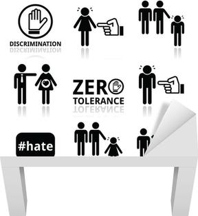 05d094c0 Fototapet Stopp diskriminering av menn og kvinner ikoner sett • Pixers® - Vi  lever for forandring