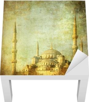 Lack-bord finér Vintagebilde av Blå Moske, Istambul