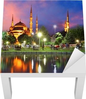 Blå moske i Istanbul, Tyrkiet Lack bord klistermærke