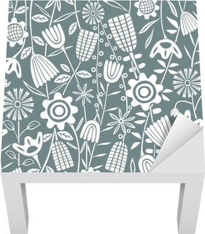 Blumenmuster - Kubem Studio Lack bord klistermærke