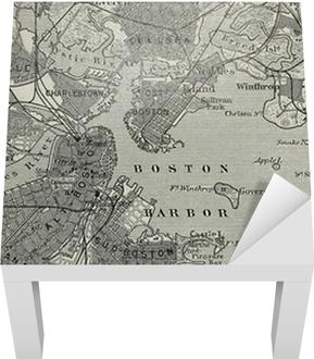 Gamle Kort Over Boston Havn Plakat Pixers Vi Lever For