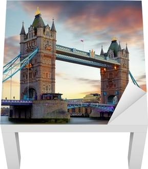 Tower Bridge i London, UK Lack bord klistermærke