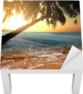Tropisk strand Lack bord klistermærke