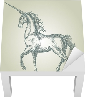 Unicorn Lack bord klistermærke