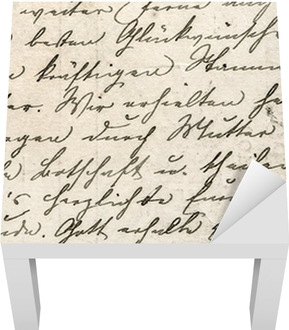 Vintage håndskrift med en tekst på undefined sprog Lack bord klistermærke