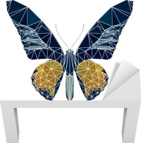 Beyaz çizgi ile çokgen kelebek, Poli düşük hayvan