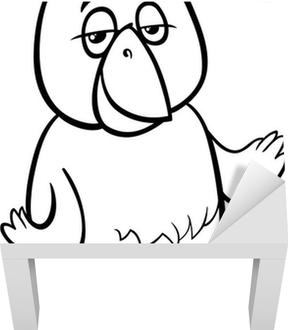 Kanarya Kuş Karikatür Boyama Tuval Baskı Pixers Haydi Dünyanızı
