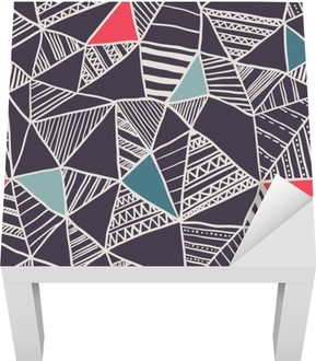 Abstract seamless doodle pattern Lack Table Veneer