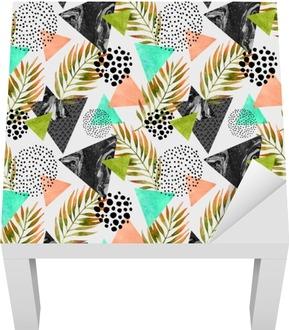 Abstract summer geometric seamless pattern Lack Table Veneer