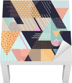 Art geometric background Lack Table Veneer