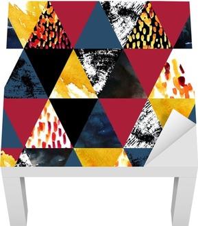 Autumn inspired watercolor seamless pattern Lack Table Veneer