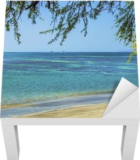 Beach. Ocean. Maui. Lack Table Veneer