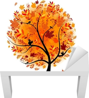 Beautiful autumn tree for your design Lack Table Veneer