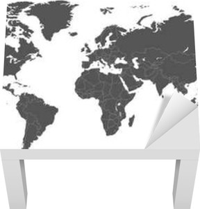 Blank grey political world map isolated on white background blank grey political world map isolated on white background worldmap vector template for website infographics design flat earth world map illustration gumiabroncs Images