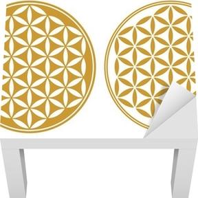 Blume des Lebens - Schutz Symbol, Heilige Geometrie Lack Table Veneer