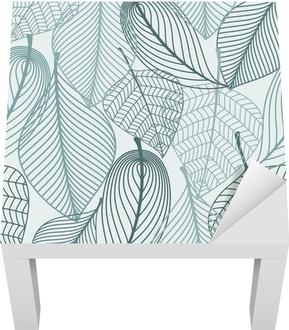 Delicate skeleton leaves seamless pattern Lack Table Veneer