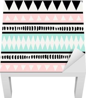 Ethnic Seamless Pattern Lack Table Veneer