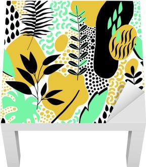 Hand Drawn Abstract Seamless Pattern Lack Table Veneer