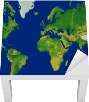 Terrain World Map.Mercator World Map With Terrain Poster Pixers We Live To Change