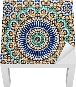 moroccan vintage tile background Lack Table Veneer