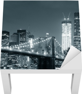 New York City Brooklyn Bridge Lack Table Veneer