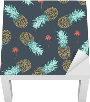 Pineapple seamless Pattern Lack Table Veneer