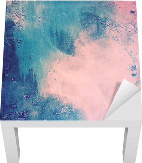 Pink and blue abstract background Lack Table Veneer