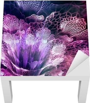 Purple fractal flower Lack Table Veneer