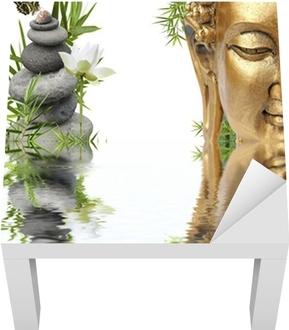 reflets de Bouddha Lack Table Veneer