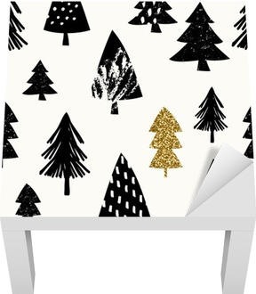 Seamless Christmas Pattern Lack Table Veneer