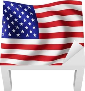 USA flag United States - American flag Lack Table Veneer