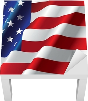 vector american flag Lack Table Veneer