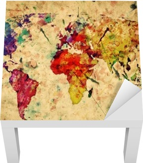 Vintage World Map. Colorful Paint, Watercolor On Grunge Paper Canvas Print  U2022 Pixers® U2022 We Live To Change