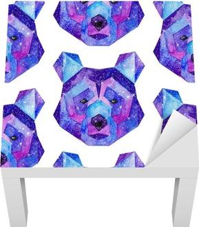 Watercolor cosmic animals. Hand drawn illustration Lack Table Veneer