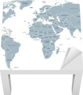 World political map detailed map of the world with shorelines world political map detailed map of the world with shorelines national borders and country names robinson projection english labeling grey illustration gumiabroncs Choice Image