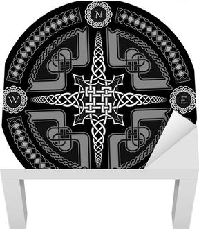 Fotobehang Decoratieve Kompas In Keltische Stijl Pixers We