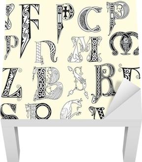 Diverse middeleeuwse hoofdletters