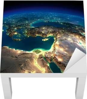 Lack Tafelsticker Nacht van de Aarde. Afrika en het Midden-Oosten