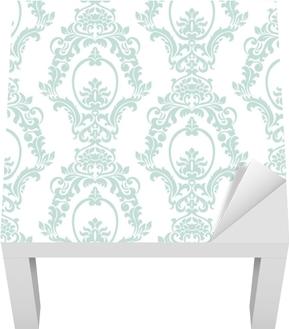 Lack-Tischaufkleber Artvektorverzierungsimperialart der Vektorweinlese. verziertes Blumenelement für Gewebe, Gewebe, Design, Hochzeitseinladungen, Grußkarten, Tapete. opalblaue Farbe