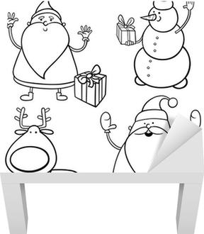 Cartoon Weihnachten Themen Ausmalbilder