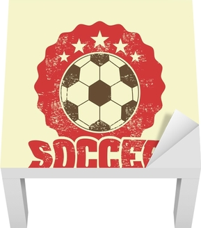 Lack-Tischaufkleber Fussball Design - Sportartikel