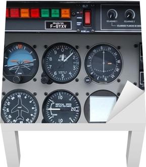 Lack-Tischaufkleber Instrumentierung, Cockpit, Flug