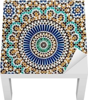 Lack-Tischaufkleber Marokkanischen Vintage Fliese Hintergrund