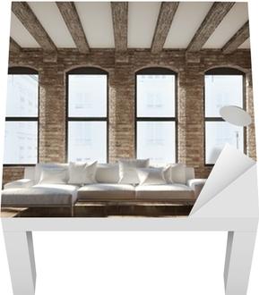 Leinwandbild Vintage romantische Loft Interieur, mit einem schwarzen ...