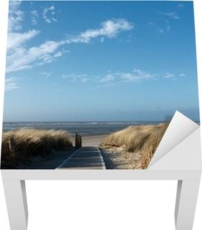 Lack-Tischaufkleber Nordsee Strand auf Langeoog