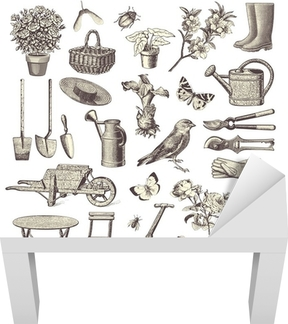 Fototapete Sammlung Von Vintage Garten Design Elemente U2022 Pixers®   Wir  Leben, Um Zu Verändern
