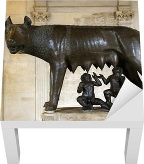 Fototapete Skulptur von Kapitolinischen Wölfin, Romulus und Remus ...