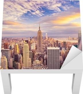 Lack-Tischaufkleber Sonnenuntergang über Manhattan