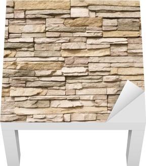Lack-Tischaufkleber Stacked Steinmauer Hintergrund horizontal