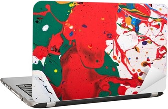 Laptop-Aufkleber Abstrakt lebendige Malerei